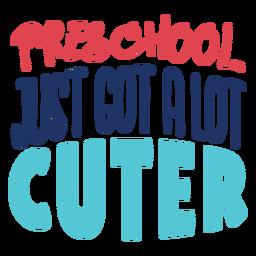 El preescolar acaba de tener un diseño de letras más lindo