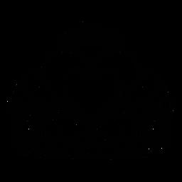 Quinceañera corona trazo