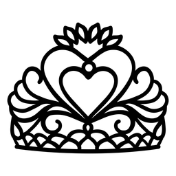 Traço de coroa Quinceanera