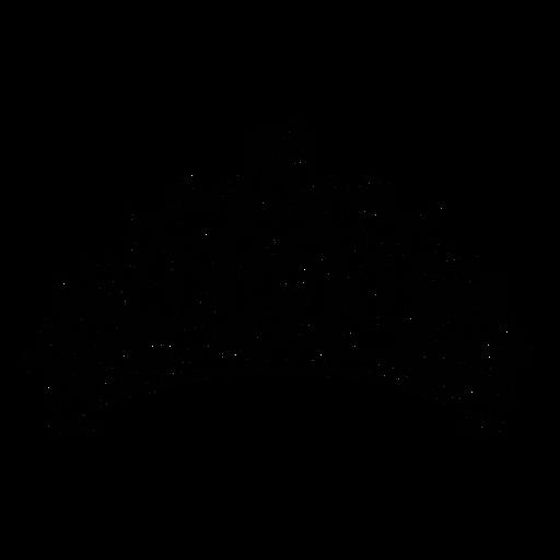 Corona de remolinos de corazón de quinceañera plana