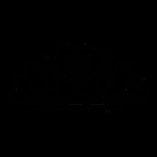 Quinceanera heart tiara element