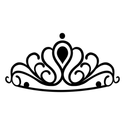 Quinceanera tiara stroke