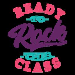 Rock este diseño de letras de clase