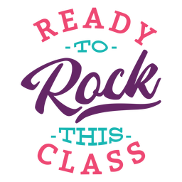 Rock this class lettering design