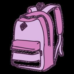 Doodle de color de mochila escolar