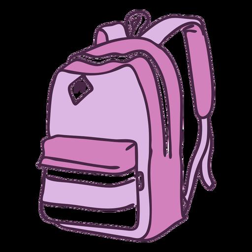 Doodle de color de mochila escolar Transparent PNG