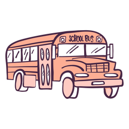 School bus color doodle