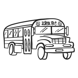 Doodle de autobús escolar