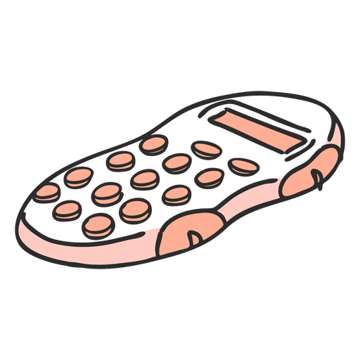 School calculator color doodle Transparent PNG