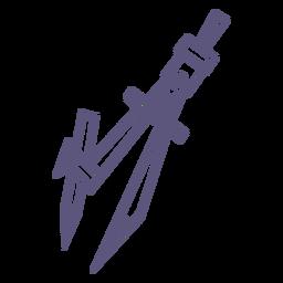 School compasses stroke icon