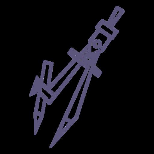 School compasses stroke icon Transparent PNG