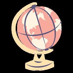 Escola globo plana ícone