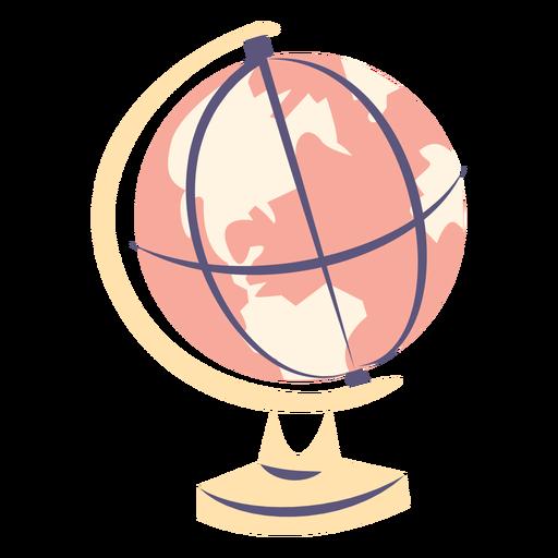 School globe flat icon