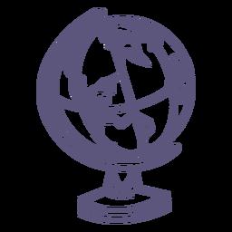 Icono de trazo de globo escolar
