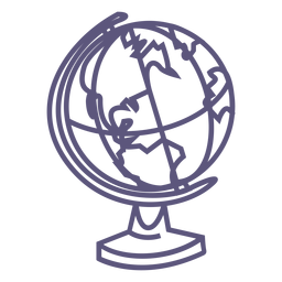 School globe stroke icon