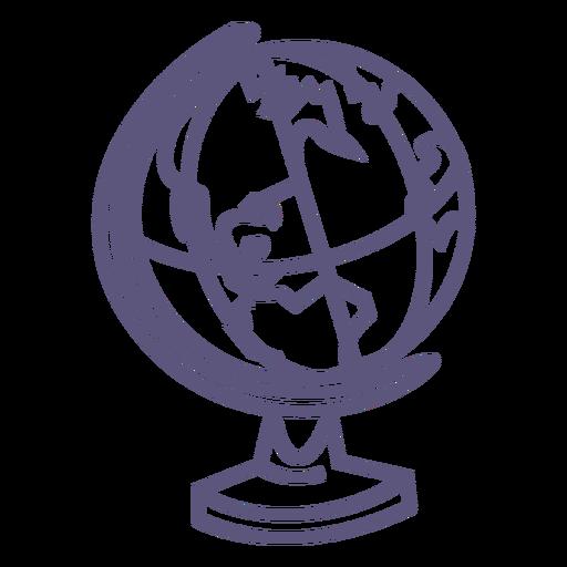 School globe stroke icon Transparent PNG