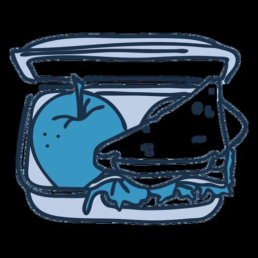 School lunch box color doodle