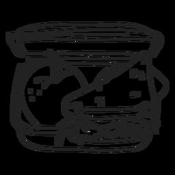 School lunch box doodle