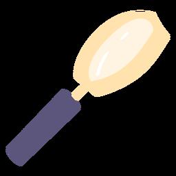 Icono plano de lupa escolar