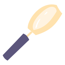 School magnifying glass flat icon
