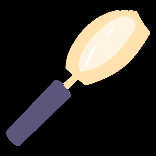 Icono plano de lupa de escuela