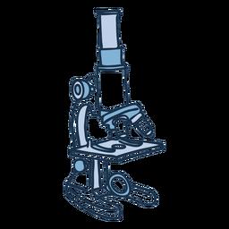 Doodle de color de microscopio escolar