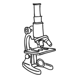 Doodle de microscopio escolar