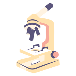School microscope flat icon