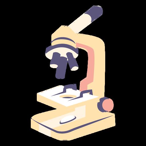 Icono plano de microscopio escolar