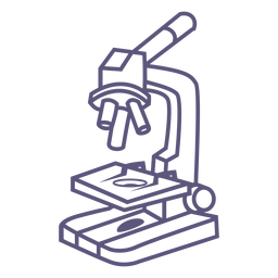 School microscope stroke icon