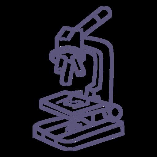 Icono de trazo de microscopio escolar
