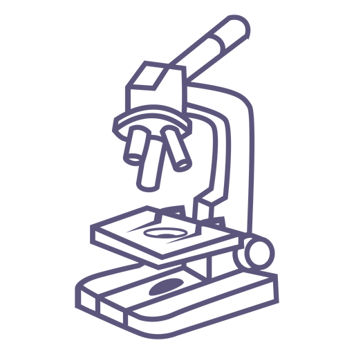 School microscope stroke icon Transparent PNG