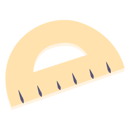 School protractor flat icon