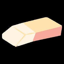 Icono plano de goma de la escuela