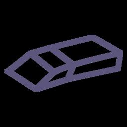Icono de trazo de goma de la escuela