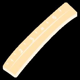 School ruler flat icon
