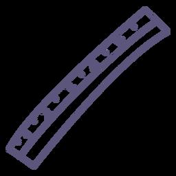 School ruler stroke icon
