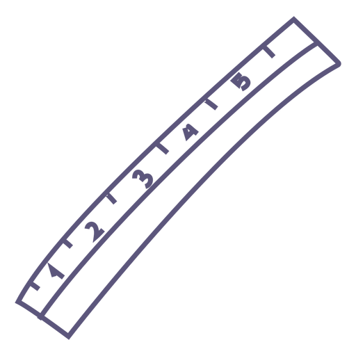 School ruler stroke icon Transparent PNG
