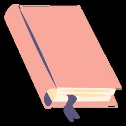 Icono plano de libro de texto escolar