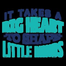 Molde pequenas mentes com design de letras