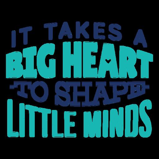 Forma pequeñas mentes diseño de letras Transparent PNG