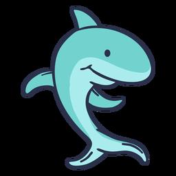 Dibujos animados de tiburones caminando