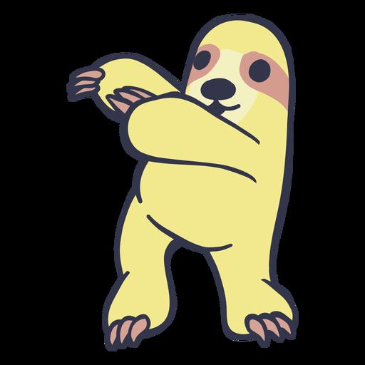 Sloth doing gymnastics cartoon
