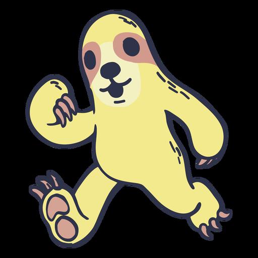 Sloth running cartoon