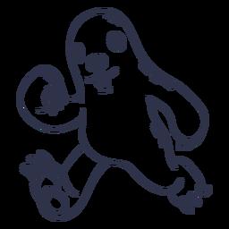 Dibujos animados de trazo corriendo perezoso