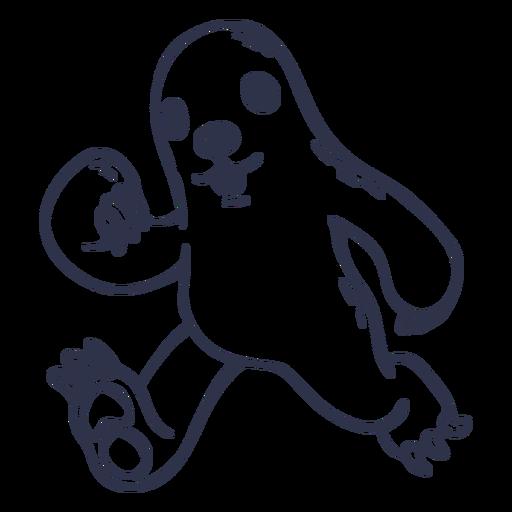 Sloth running stroke cartoon