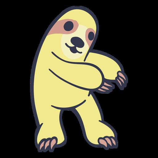 Sloth warming up cartoon