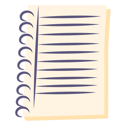 Ícone plana de caderno espiral