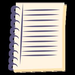 Icono plano cuaderno espiral