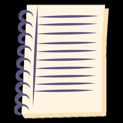 Icono plano de cuaderno de espiral Transparent PNG